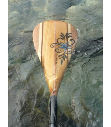 PAGAIE WAVE NATURAL RED CEDAR- REDWOODPADDLE Stand up paddle Pagaies