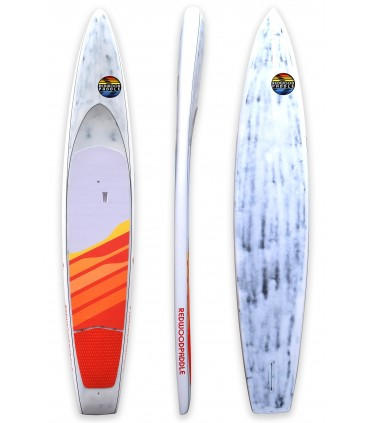 """Stand up paddle RACE 14' x 25"""" Flying Tiger- REDWOODPADDLE"""