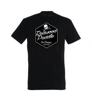 TEE SHIRT BLACK - REDWOODPADDLE Stand up paddle Accessoires
