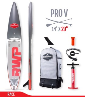 Fb Pro V 14' x 29 - Woven construction - REDWOODPADDLE Stand up paddle