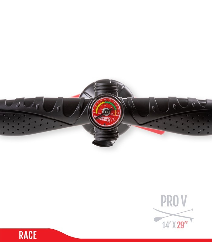 Fb Pro V 14' x 29 - Woven construction - REDWOODPADDLE Stand up paddle FUNBOX PRO BALADE COURSE