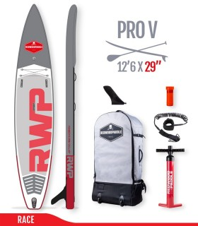 Fb'R Pro V 12'6 x 29 - Woven construction - REDWOODPADDLE Stand up paddle RACE & TOURING