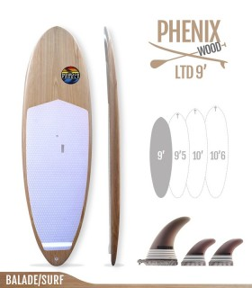 PHENIX LTD 9' WOOD SERIES- REDWOODPADDLE Stand up paddle RIGIDES