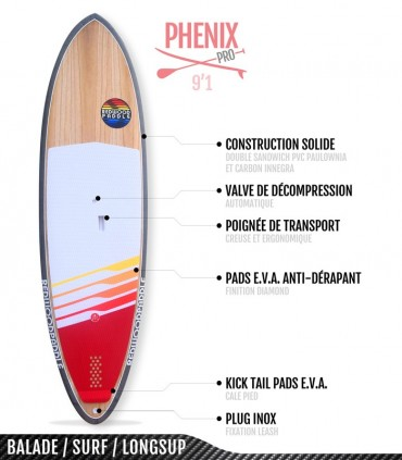 PHENIX PRO 9'1- REDWOODPADDLE Stand up paddle PHENIX PRO