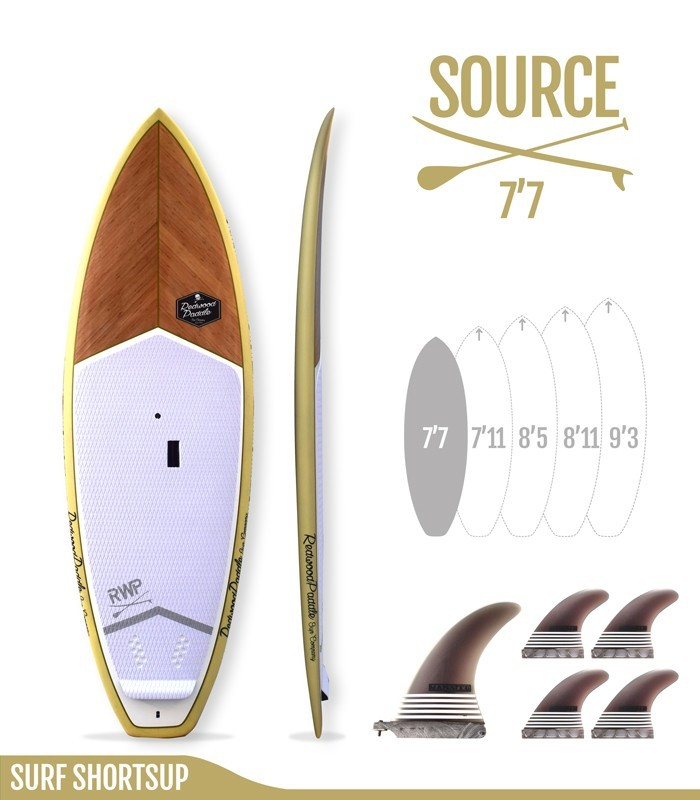 SOURCE 7'7 Natural - REDWOODPADDLE Stand up paddle SURF SHORTSUP