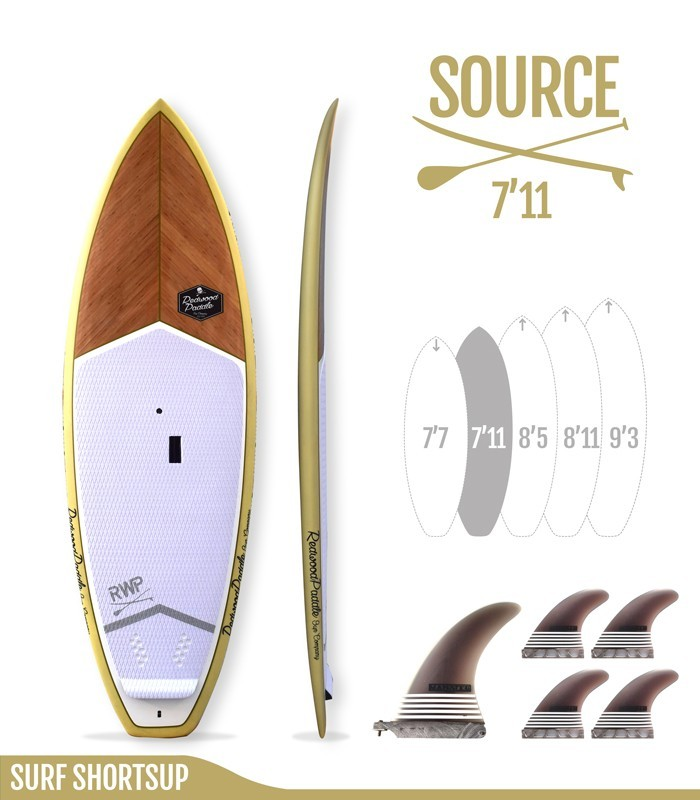 SOURCE 7'11 Natural - REDWOODPADDLE Stand up paddle SURF SHORTSUP