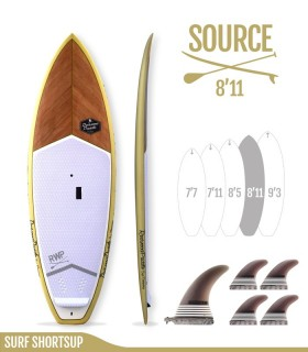 SOURCE 8'11 Natural - REDWOODPADDLE Stand up paddle SURF SHORTSUP
