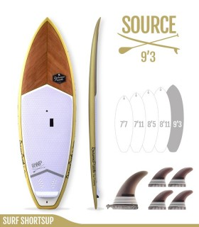 SOURCE 9'3 Natural - REDWOODPADDLE Stand up paddle SURF SHORTSUP