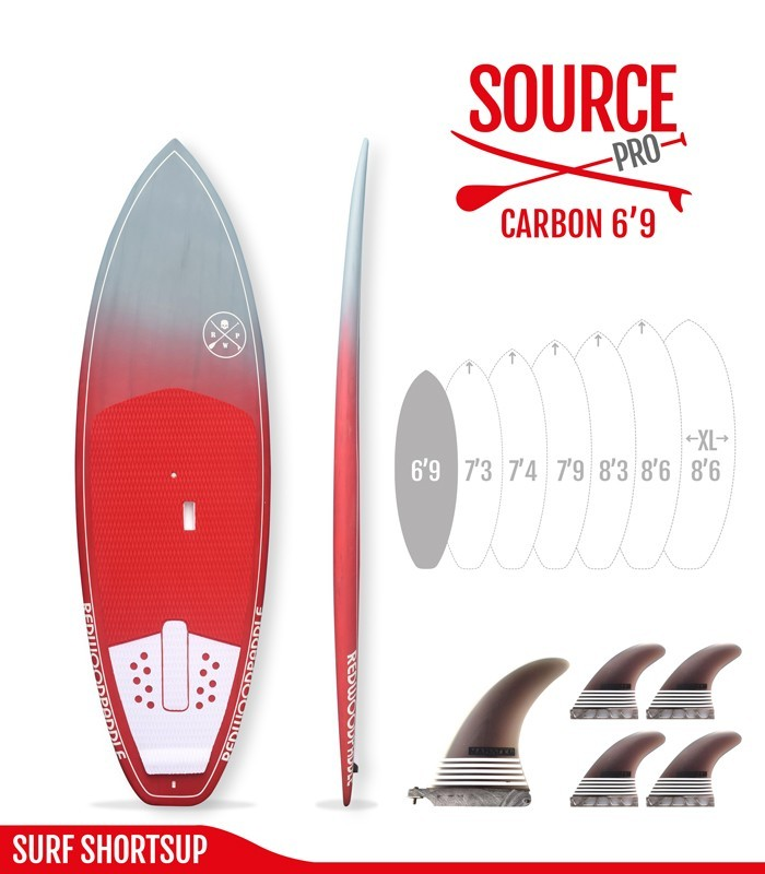 SOURCE PRO 6'9 Carbon Brush - REDWOODPADDLE Stand up paddle SOURCE PRO