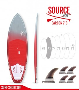 SOURCE PRO 7'3 Carbon Brush - REDWOODPADDLE Stand up paddle SOURCE PRO