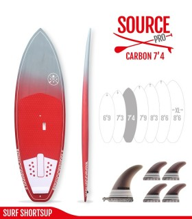 SOURCE PRO 7'4 Carbon Brush - REDWOODPADDLE Stand up paddle