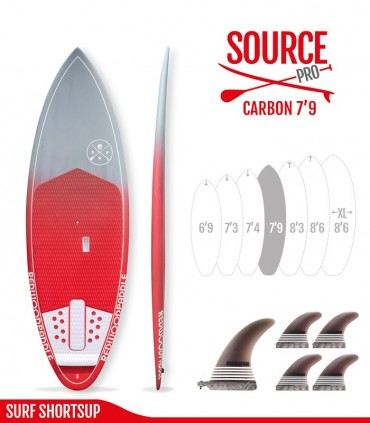 SOURCE PRO 7'9 Carbon Brush - REDWOODPADDLE Stand up paddle SOURCE PRO