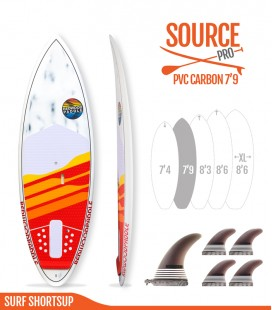 SOURCE PRO 7'9 Pvc / Carbon - REDWOODPADDLE Stand up paddle SOURCE PRO