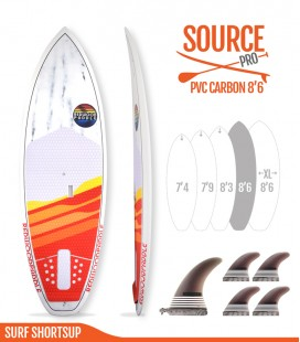 SOURCE PRO 8'6 Pvc / Carbon - REDWOODPADDLE Stand up paddle SOURCE PRO