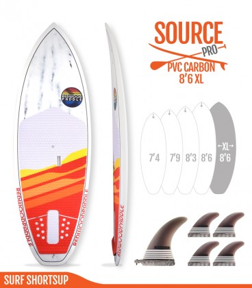 SOURCE PRO 8'6 XL Pvc / Carbon - REDWOODPADDLE Stand up paddle SOURCE PRO