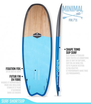 MINIMAL 7'11 Pro - REDWOODPADDLE Stand up paddle FOIL & WINGFOIL