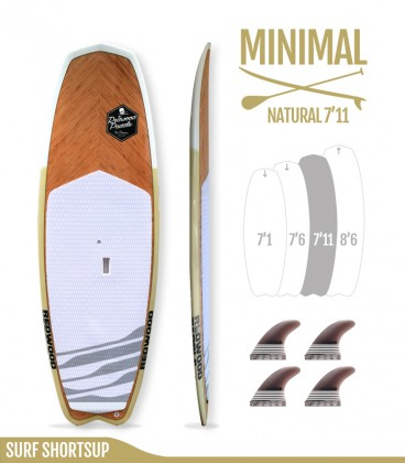 MINIMAL 7'11 Natural - REDWOODPADDLE Stand up paddle MINIMAL