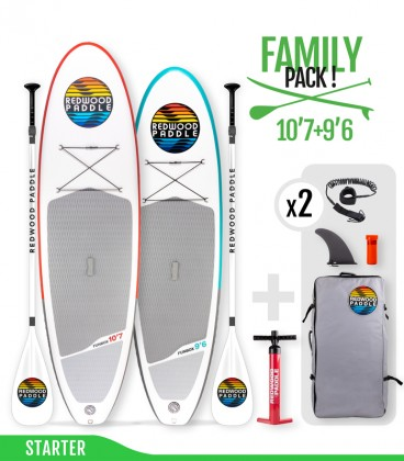Pack Family Starter - REDWOODPADDLE Stand up paddle FUNBOX STARTER