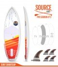 SOURCE PRO 8'3 Pvc / Carbon - REDWOODPADDLE Stand up paddle SOURCE PRO
