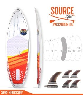 SOURCE PRO 8'6 Pvc / Carbon - REDWOODPADDLE Stand up paddle