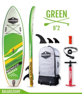 Stand Up Paddle Funbox 9'2 Green - SUP gonflable - Redwood Paddle