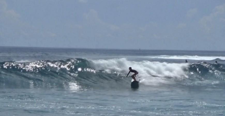 Petite vidéo Supsurf de notre petite Rideuse Tiphaine Maillard à Ile de La Réunion !!!