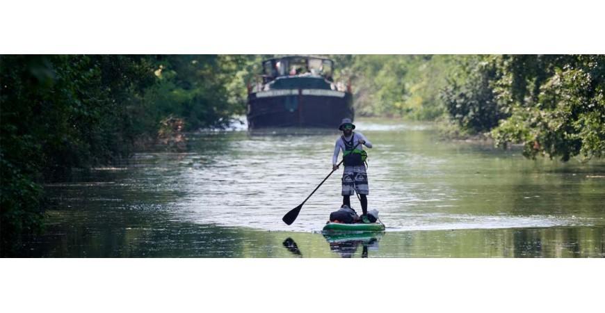 Le Canal des 2 Mers en Stand up Paddle by Mathieu LAFFARGUE!